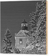 Bass Harbor Lighthouse Mount Desert Island Maine Wood Print