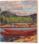 Bateaux Wood Print