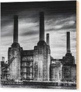 Battersea Power-station London Wood Print