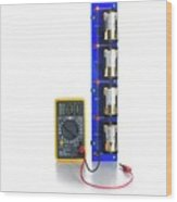 Battery Test Circuit Wood Print