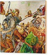 Battle Of Grunwald Wood Print