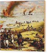 Battle Of Hampton Roads Wood Print