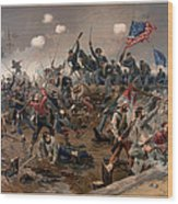 Battle Of Spottsylvania Wood Print