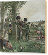 Battle Of Waterloo Troops Of The Nassau Wood Print