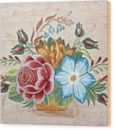 Bavarian Floral  Wood Print by Brenda Ruark