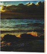 Beach 2 Wood Print