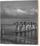 Beach 19 Wood Print