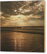 Beach Sunrise Wood Print by Nelson Watkins