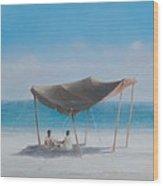 Beach Tent, 2012 Acrylic On Canvas Wood Print