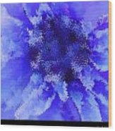 Beast Of Burden Blue Wood Print