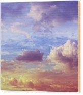 Beautiful Sunset Cloudscape Wood Print