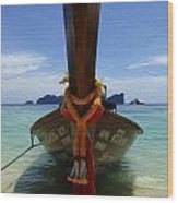 Beauty Of Boats Thailand 1 Wood Print