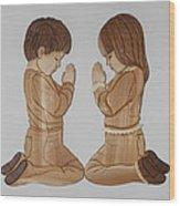 Bedtime Prayers Wood Print