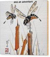 Beeing Present Wood Print