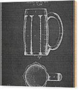 Beer Mug Patent From 1876 - Dark Wood Print