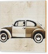 Beetle Car Wood Print by David Ridley