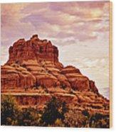Bell Rock Vortex Painting Wood Print