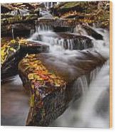 Below Oneida Falls Wood Print