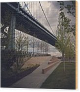 Ben Franklin Bridge Wood Print by Katie Cupcakes