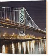 Benjamin Franklin Bridge Wood Print