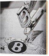 Bentley Hood Ornament - Emblem Wood Print