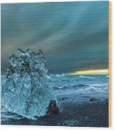 Bergy Bits, Iceland Wood Print
