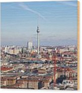 Berlin Cityscape Wood Print