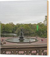 Bethesda Fountain Nyc Wood Print