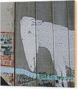 Bethlehem Separation Wall Wood Print