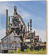 Bethlehem Steel Mill Wood Print
