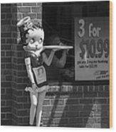 Betty Boop 1 Wood Print by Frank Romeo