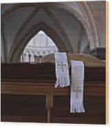 Bible In Temple Wood Print