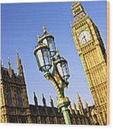 Big Ben And Palace Of Westminster Wood Print