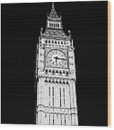 big ben elizabeth clock tower on the houses of parliament London England UK Wood Print