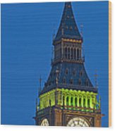 Big Ben London Wood Print
