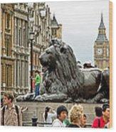 Big Lion Little Ben Wood Print