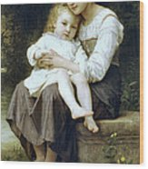 Big Sister Wood Print by William Bouguereau