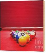Billards Pool Game Wood Print