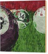 Billiards Abstract Wood Print