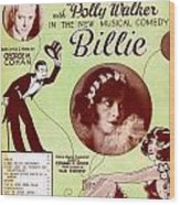 Billie Wood Print