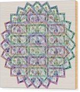1 Billion Dollars Geometric Tan Wood Print