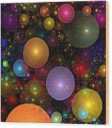 Billions Of Bubbles Wood Print by Peggi Wolfe