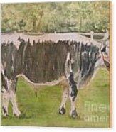 Bill's Bull Wood Print