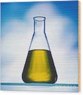 Biodiesel In Erlenmeyer Flask  Wood Print
