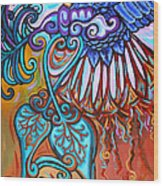 Bird Heart I Wood Print
