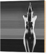 Black And White Artistic Nude Wood Print