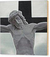 Black Cross Wood Print