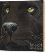 Black Leopard Wood Print