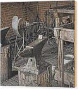 Black Smith Shop In Fort Edmonton Wood Print