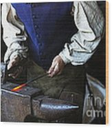Blacksmith At The Old Fort Wood Print